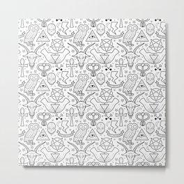 Illuminati Pattern Metal Print