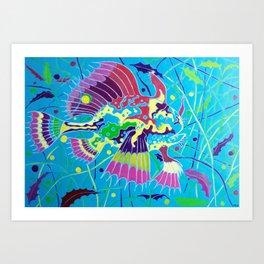 L'Arlecchino dei Sargassi (The Sargassumfish) Art Print