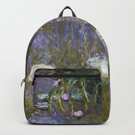 Water Lilies 1922 by Claude Monet Backpack