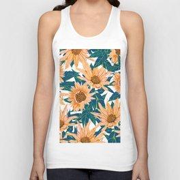 Blush Sunflowers Unisex Tank Top