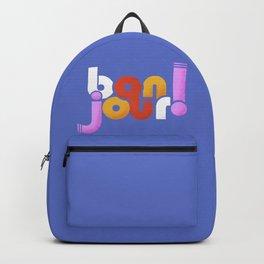 bonjour! french design Backpack