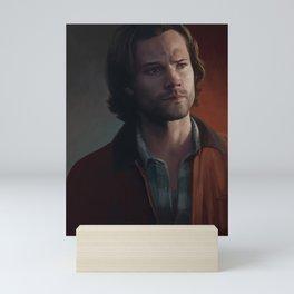Sam Winchester. Red Jacket Mini Art Print
