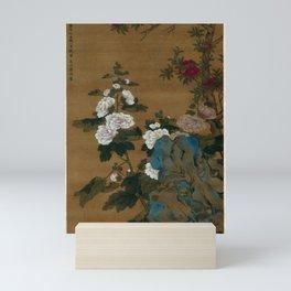 Flowers and Rocks Mini Art Print