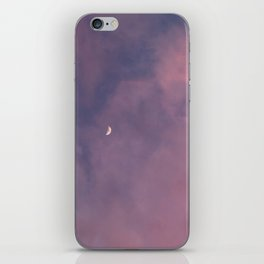 Crescent Moon and Pink Clouds iPhone Skin