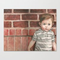 toddler Canvas Prints featuring A Toddler Named Carter by Missy's Portraits