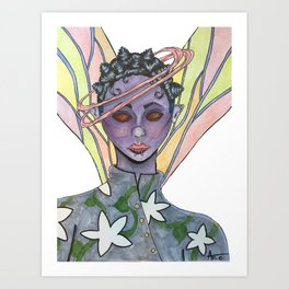 Fatiana the dragonfly fairy  Art Print