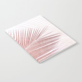 Palm leaf synchronicity - rose gold Notebook