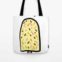 popsicle Tote Bags featuring Popsicle by Ena Jurov
