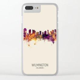 Wilmington Delaware Skyline Clear iPhone Case