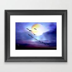 Birds of passage. Framed Art Print