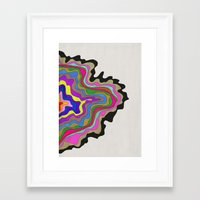 coasters Framed Art Prints featuring Color Wave by Georgiana Paraschiv