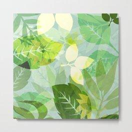 Leafy Emerald Bliss Metal Print