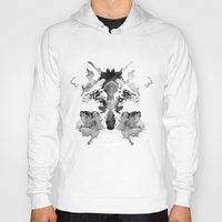 watchmen Hoodies featuring Rorschach by Robert Farkas