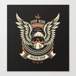 Motorcycle Club Illustration Canvas Print