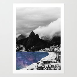 Ipanema's Cosmic Sea Art Print