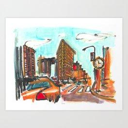 The Flatiron Art Print