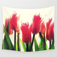tulips Wall Tapestries featuring Tulips by 2sweet4words Designs