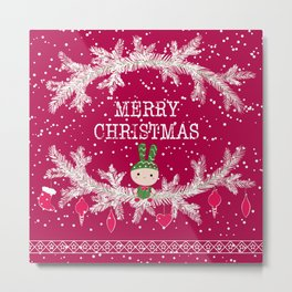 Merry christmas and happy new year 12 Metal Print