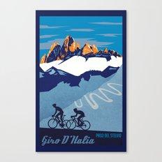 Retro Giro D'Italia scenic cycling poster Canvas Print
