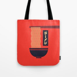 Ramen Japanese Food Noodle Bowl Chopsticks - Red Tote Bag