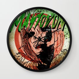 Mastodon Live in Berlin in Green and Red Wall Clock