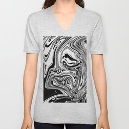 Stripes, distorted 3 Unisex V-Neck