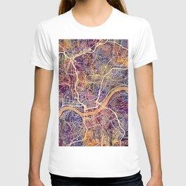 Cincinnati Ohio City Map T-shirt