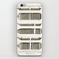 boats iPhone & iPod Skins featuring Boats by Le petit Archiviste
