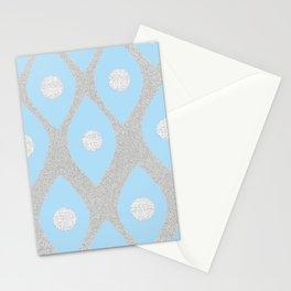 Eye Pattern Blue Stationery Cards