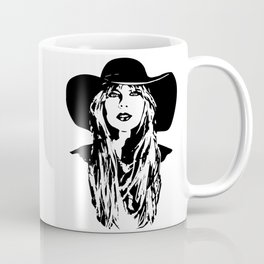 PORTRAIT OF A FEMALE POP SINGER AND SUPERSTAR Coffee Mug