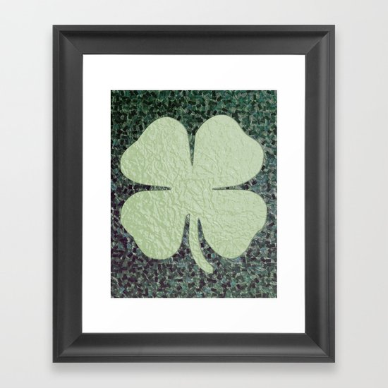 Lucky Clover Framed Art Print