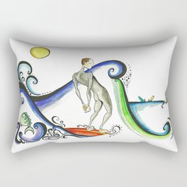 Nose riding Surfer  Rectangular Pillow
