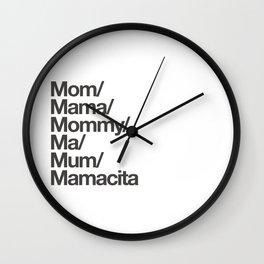 mamacita Wall Clock