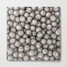 Baseballs Metal Print