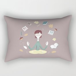 Yoga time Rectangular Pillow