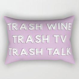 Trash Wine, Trash TV, Trash Talk Light Pink Rectangular Pillow