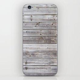 Gray Wood iPhone Skin