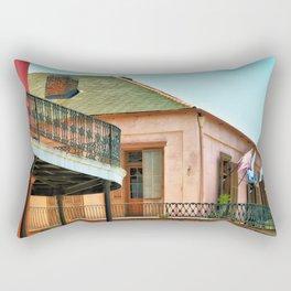 Flags on the Balcony Rectangular Pillow