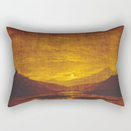Caspar David Friedrich Mountainous River Landscape Rectangular Pillow