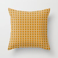 mario bros Throw Pillows featuring Collective Mario Bros. Blocks by Rebekhaart