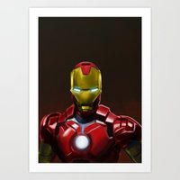 IronMan Illustration Print Art Print