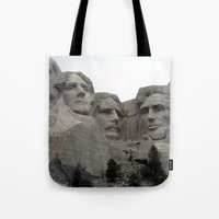 rushmore Tote Bags featuring Mount Rushmore National Park by Joanne Salazar