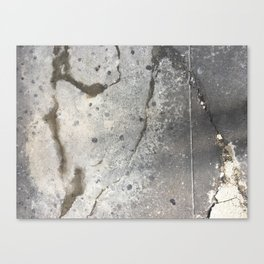Cracked Stain Dot Streets Canvas Print