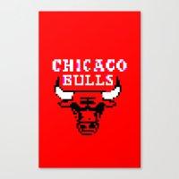chicago bulls Canvas Prints featuring Bulls Bulls Bulls by Art by Ken