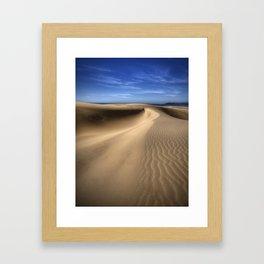 Critter Tracks On The Dunes Framed Art Print