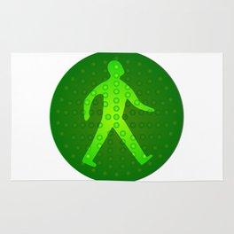 Green Walking Man Rug