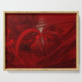fantasy in red / the well Serving Tray