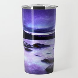 Magical Mountain Lake Purple Travel Mug