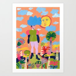 Kissing the Sun Art Print