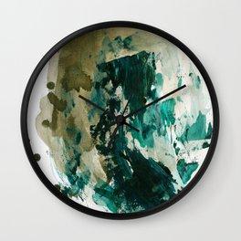 """Underground Citizen"". Phthalo Green Series, No. 20 Wall Clock"